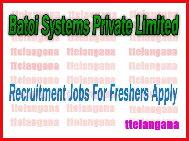 Batoi Systems Private Limited Recruitment Jobs For Freshers Apply