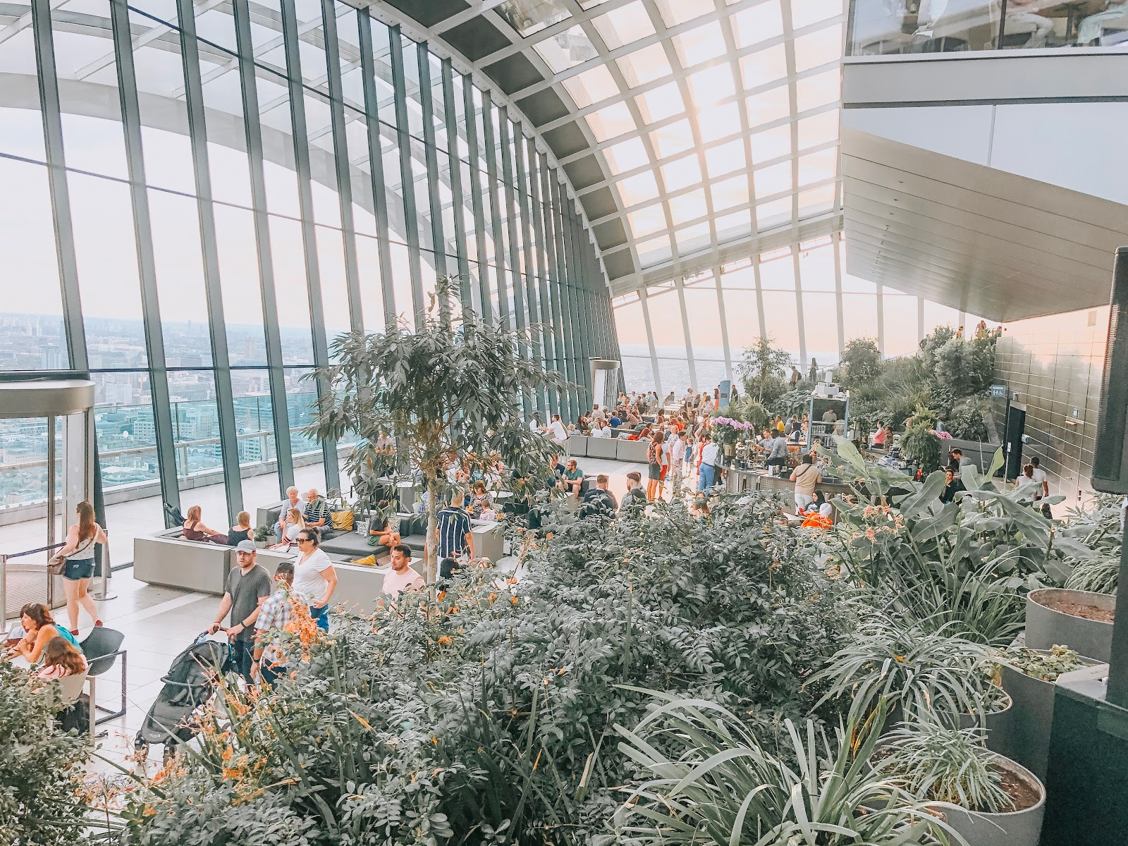 the sky garden, inside the sky garden london