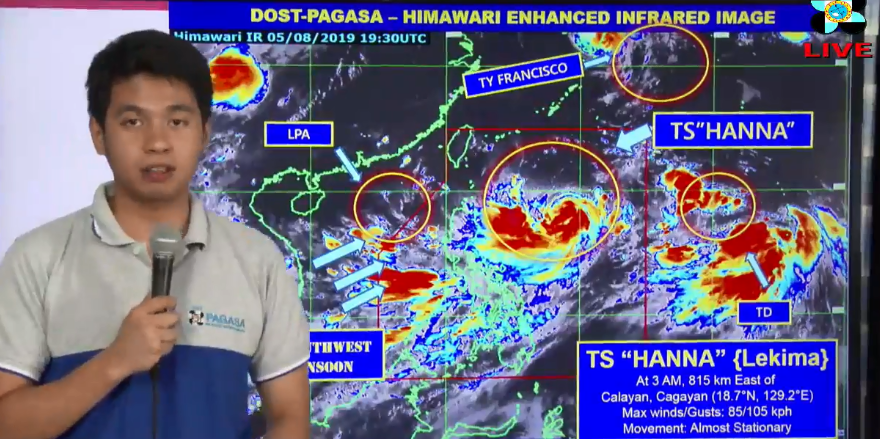 DOST-PAGASA press briefing on Tropical Storm Hanna at 5:00 am today