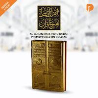 Dusdusan Al Quran Emas Pintu Kabah Premium Gold on Gold A5 ANDHIMIND