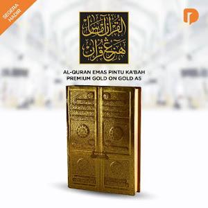 Al Quran Emas Pintu Kabah Premium Gold on Gold A5