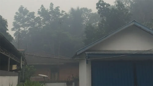 Kabut asap.  Photo courtesy Pontianak Post