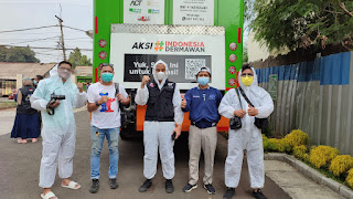 AJV Tangsel, ACT, dan PFI Berkolaborasi Bagikan Makanan Siap Saji di RSU Tangsel