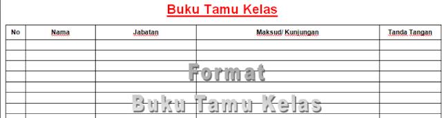 Download Format Buku Tamu Umum Dan Khusus Update 2017 Format Word