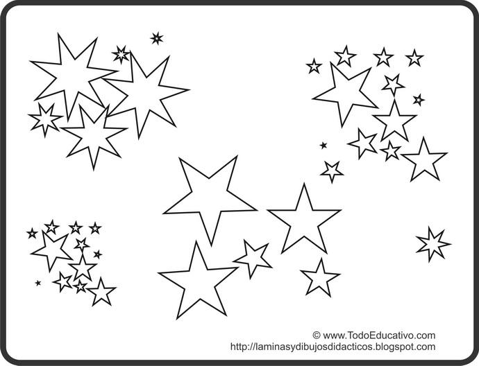 Dibujos De Estrellas Para Colorear E Imprimir: PZ C: Estrellas Para Colorear