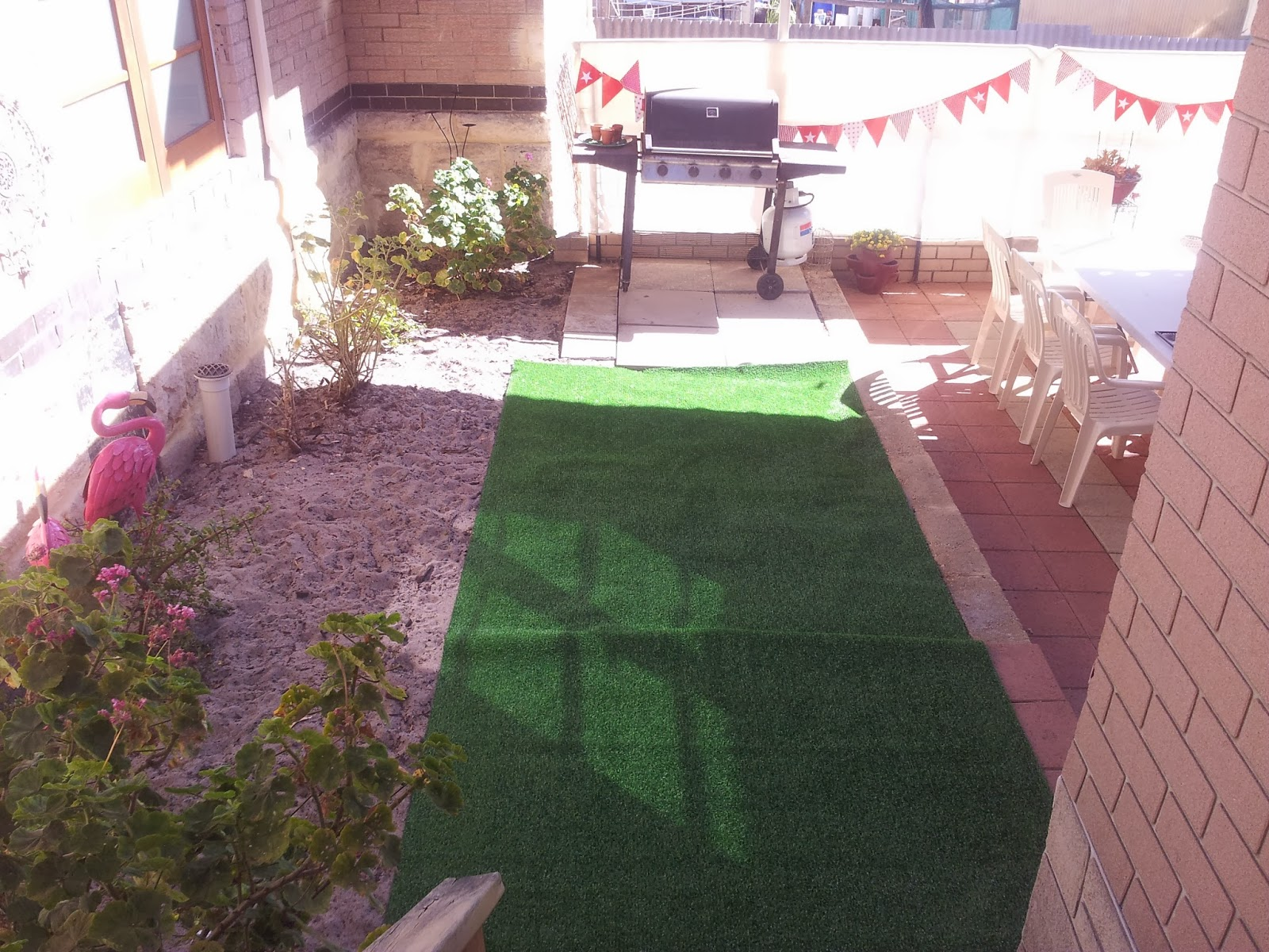 Bunnings Turf Prices Jarrah Jungle Backyard Makeover With Some Patio Pimping