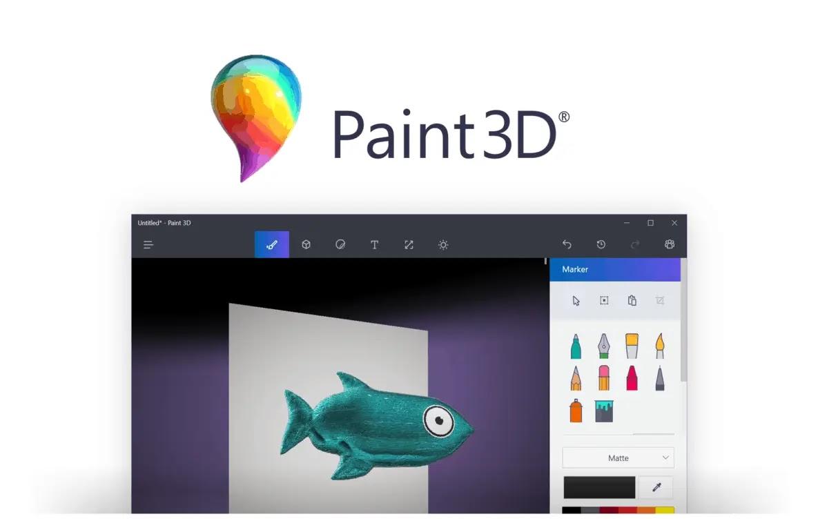 تفريغ الصور ( إزالة الخلفية)  عبر تطبيق Paint 3D المجاني في  ويندوز 10