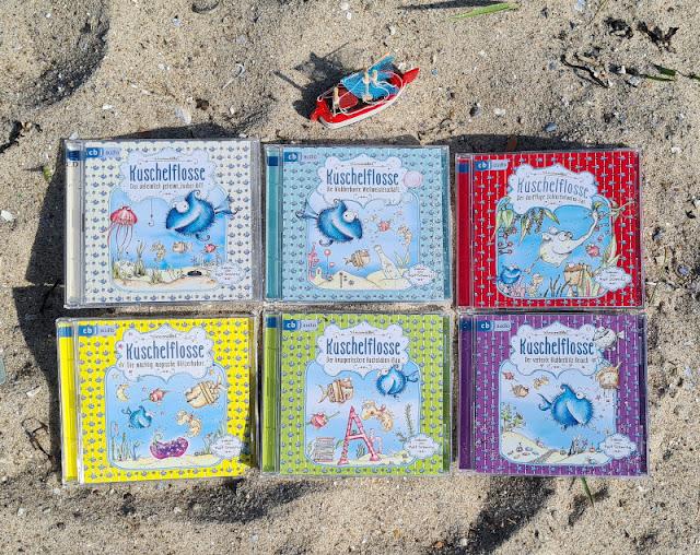 """Ahoi Fischhausen! Die """"Kuschelflosse""""-Kinderbücher und -Hörbücher. Die Hörbücher bzw. Audio CDs werden von Ralf Schmitz wunderbar gelesen."""