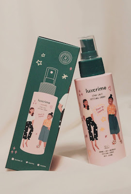 review setting spray luxcrime indonesia terbaru