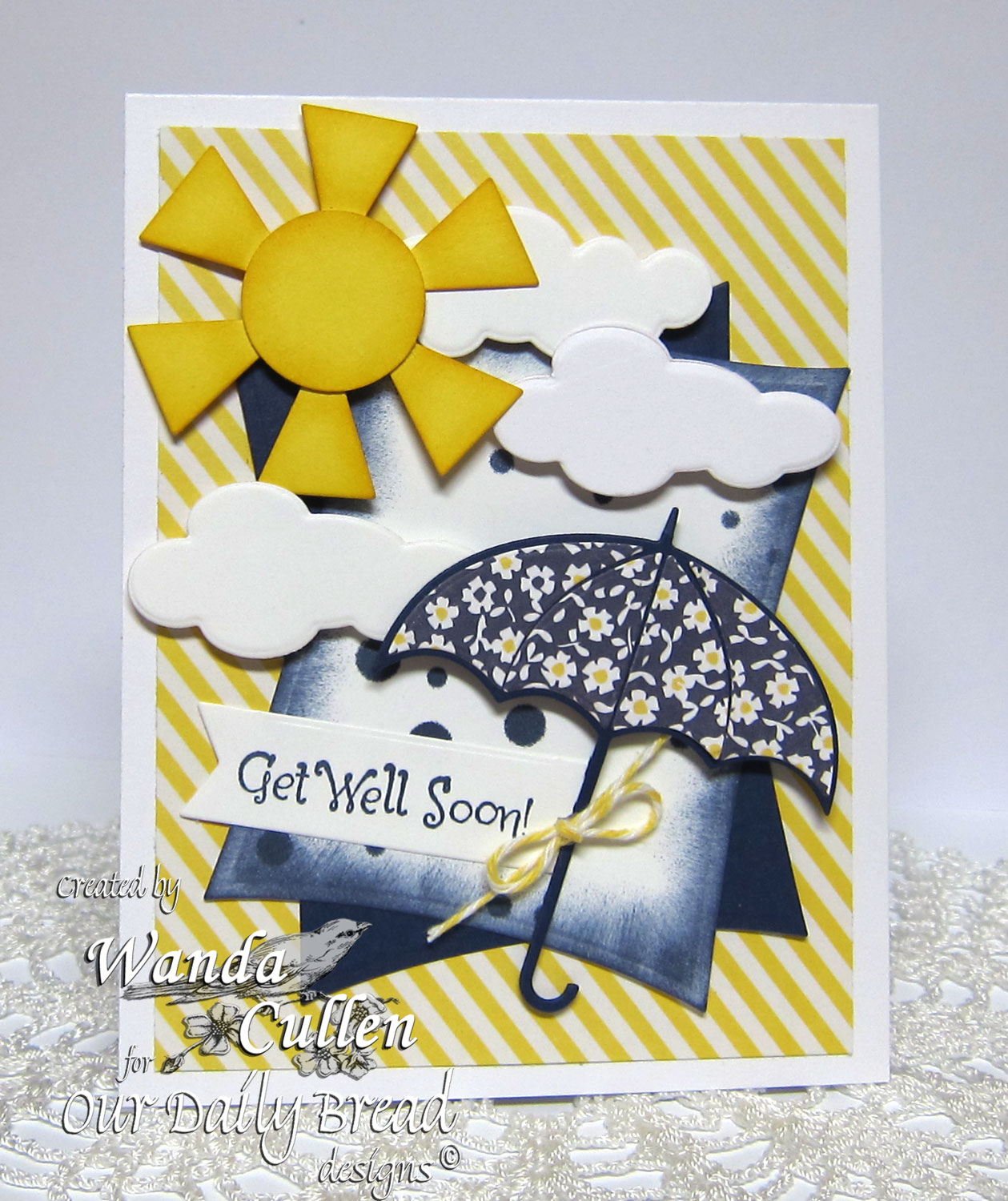 Stamps - Our Daily Bread Designs Shower of Blessings, ODBD Custom Dies: Umbrellas, Clouds and Raindrops, Pennants
