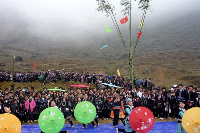 Roong Pooc festival in Sapa, Vietnam