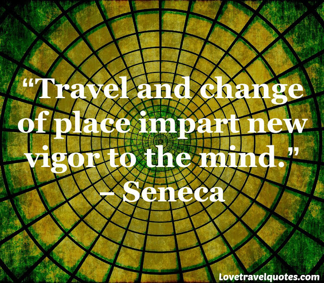 travel and change of place impart new vigor to the mind