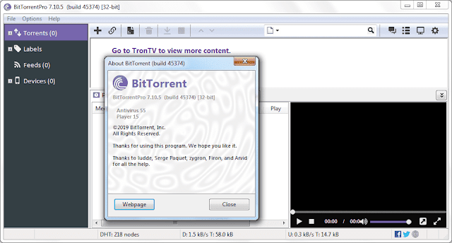 Screenshot BitTorrent Pro 7.10.5 Build 45374 Full Version
