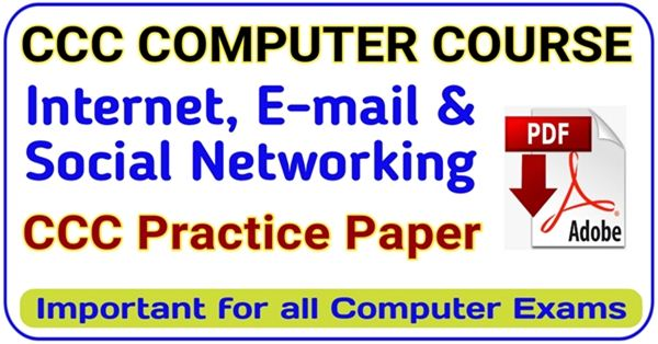 CCC Internet question and answer in hindi | E-mail, Social Networking and eGovernance | CCC question in hindi pdf