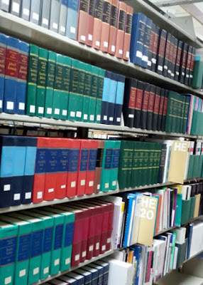 photo of shelves at the South Dakota State Library.
