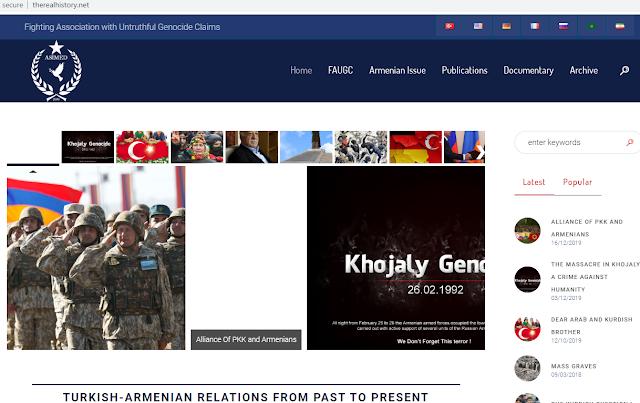 ASİMED realiza propaganda anti-armenia en 7 idiomas