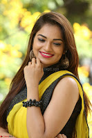Cute Actress Ashwini in Yellow Saree Exclusive  013.JPG