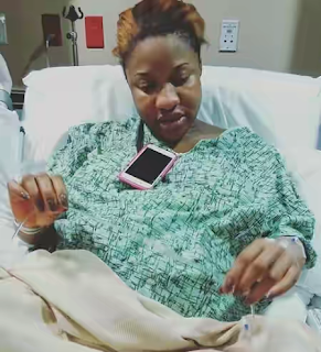 Tonto Dikeh Shares Labor Room Pics Before She Gave Birth To Her Child