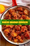 #BAKED #ORANGE #CHICKEN
