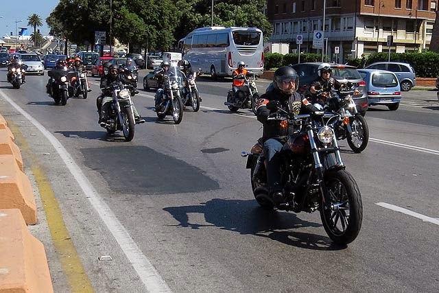 Group of motorcyclists, Livorno