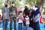Hadiri Penamatan TK Bungaiya Bonelohe, DanSatgas TMMD Ke- 111 Kodim Selayar Gelar Sosialisasi Pencegahan Covid-19