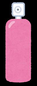 スプレーのイラスト(ピンク)