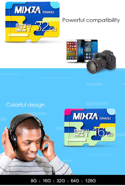 Coupon MIXZA TOHAOLL Colorful Series 32GB Micro SD Card