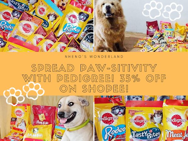 SPREAD PAW-SITIVITY with Pedigree! 35% off on Shopee!