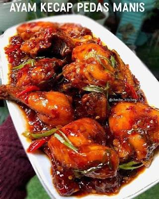 Resep Ayam Kecap Pedas manis Kekinian Spesial