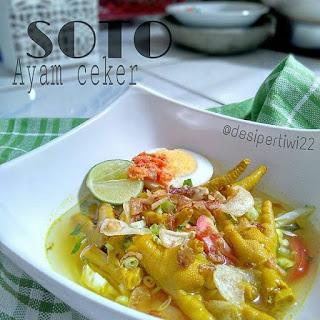 Ide Resep Masak Soto Ayam Ceker