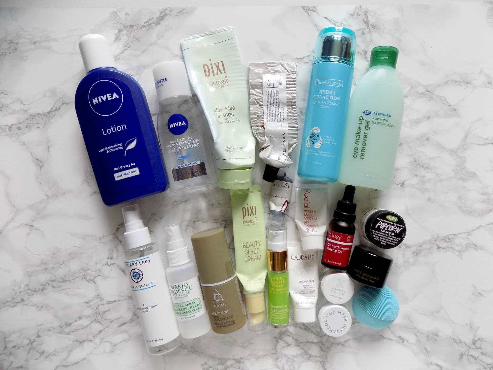 skincare empties nivea january lans