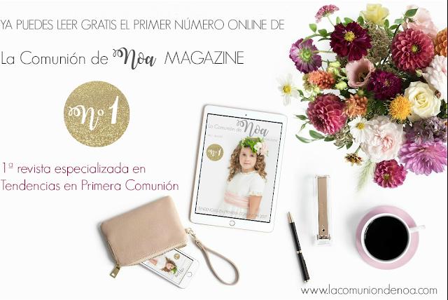 la comunion de noa magazine - revista tendencias primera comunion
