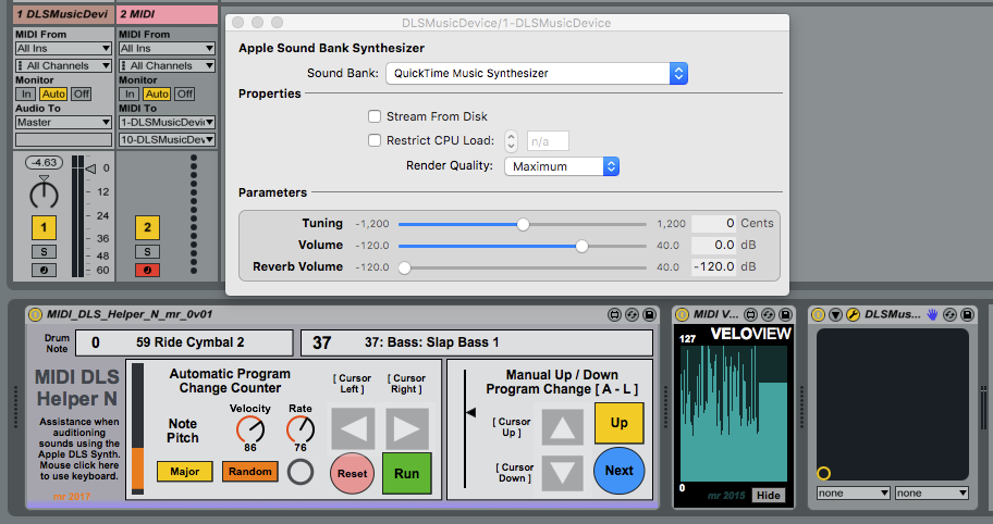 synthesizerwriter: Using the Apple General MIDI DLS Sound Bank