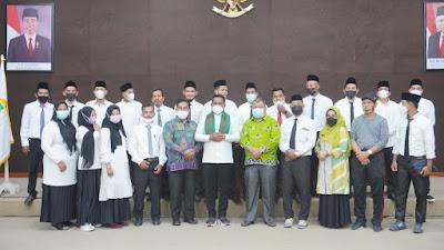 Bupati Pelalawan Lantik Anggota BPBD Kabupaten Pelalawan di Pangkalan Kerinci