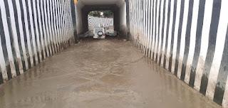 #JaunpurLive : अंडर पास में  भरा पानी,  आवागमन बाधित