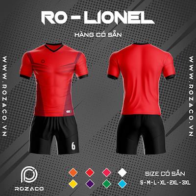 Áo Không Logo Rozaco RO-LIONEL Màu Đỏ