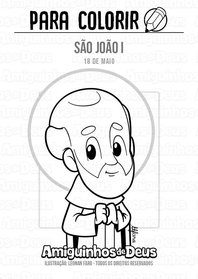 São João I desenho para colorir