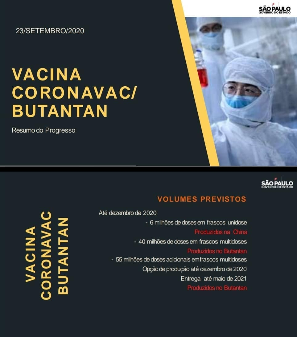 Doses da Coronavac - Vacina contra o Coronavirus - Covid-19