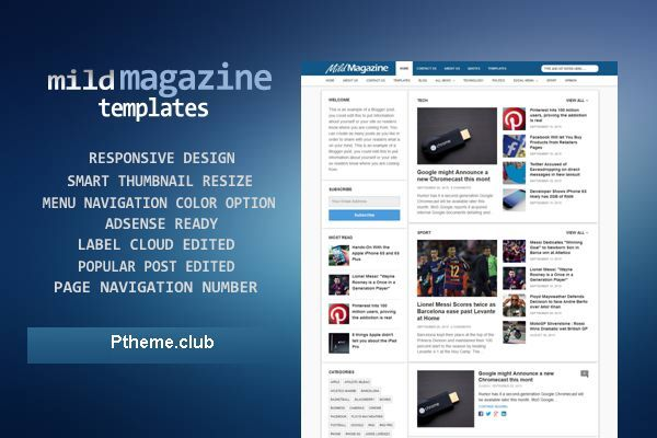 Mild Mag - Responsive Blogger Template - Magazine/Technology