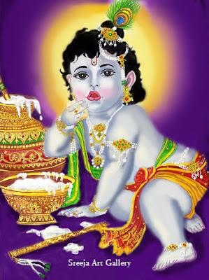 Bal Krishna by  Sreeja Renganath.
