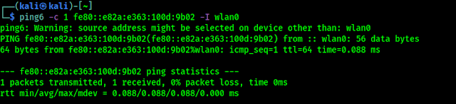 ping6 para IPv6