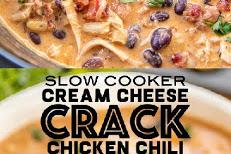 SLOW COOKER CREAM CHEESE CRACK CHICKEN CHILI