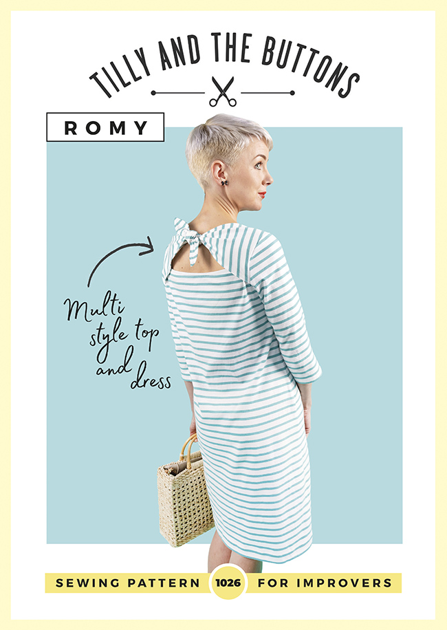 Romy top and dress sewing pattern - Tilly and the Buttons
