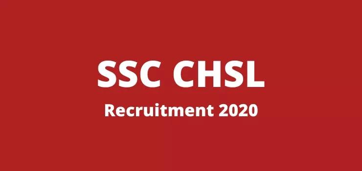SSC CHSL 2020 Apply Online