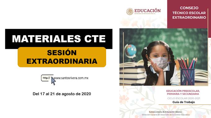 Materiales de trabajo para la Sesión Extraordinaria de Consejo Técnico Escolar (CTE)