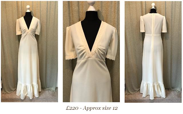 simple cream boho vintage wedding dress available from vintage lane bridal boutique wedding dress shop in bolton manchester