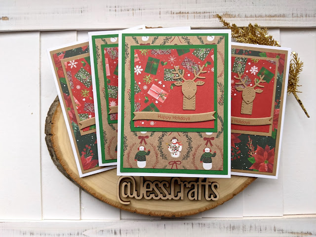 Christmas Card using Michael's Recollections Say Freeze for Jess Crafts Sketch 19