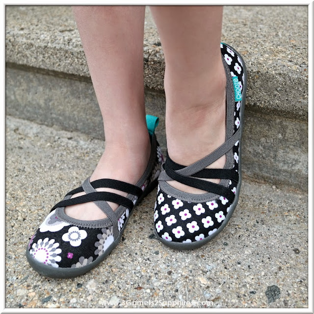 Fun Mismatched Chooze Shoes Girls Flats  |  www.3Garnets2Sapphires.com