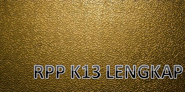 Contoh RPP K13 Lengkap