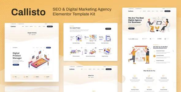 Best SEO and Digital Marketing Agency Elementor Template Kit